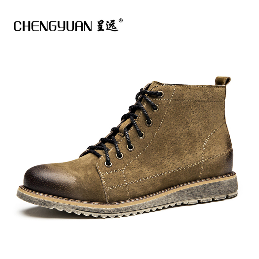 Men genuine leather martin boots motorcycle men strap short lace up ankle Fashion mens winter Leather black Boots 2015 men fashion martin boots men pu leather winter ankle boots motorcycle winter men boots