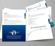 A4 pocket folder printing Custom file cover print with slot стоимость