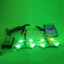 1 Set  RGBW Multicolor Cars DRL LED Daytime Running Lights For Ford Mustang 2013-2014 недорого