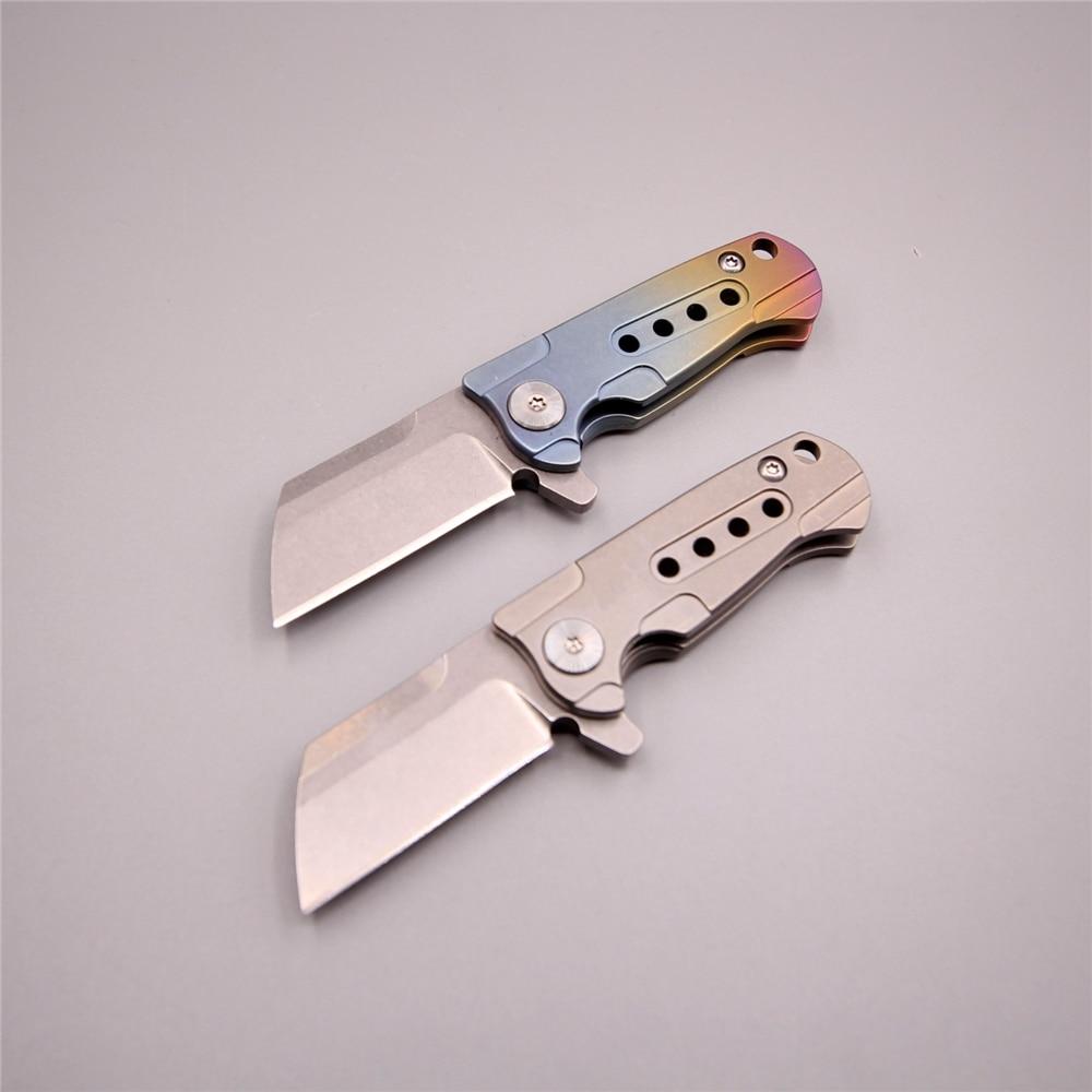 Nouveau couteau pliant 60 hrc TC4 titane petits couteaux edc S35VN lame de lavage en pierre poche de survie couteau de camping en plein air
