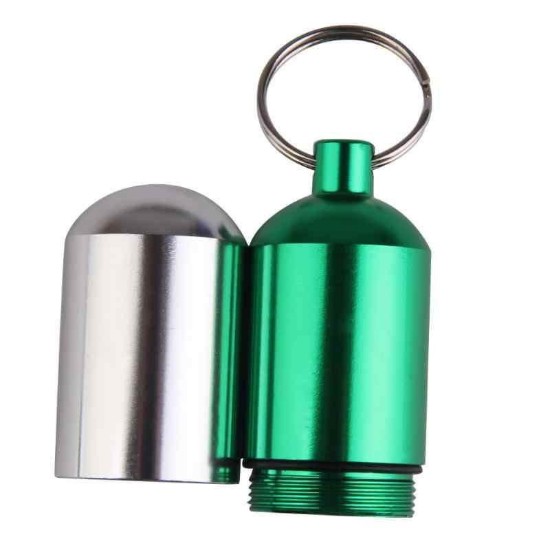 سبائك الألومنيوم كبير حجم حبة الطب مربع حامل في الهواء الطلق خرطوشة المفاتيح للماء المخدرات حالة الرعاية الصحية الشخصية