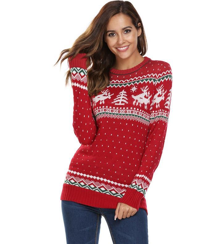 HTB137cjSFXXXXbeXpXXq6xXFXXXF - Women Christmas Jesus Print Sweaters Casual Long Sleeve Autumn O Neck Deer Print Slim Pullover Sweater Winter Tops PTC 289