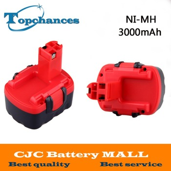 2X Newest BAT038 14.4V 3000mAh NI-MH Rechargeable Battery Pack Power Tools Battery Cordless Drill Replacement for Bosch 3660CK