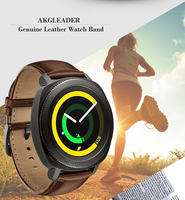 20mm Watch Band For Samsung Gear Sport Gear S2 Classic Genuine Leather Strap For Huawei Watch2 Watch Bracelet For Xiaomi Amazfit