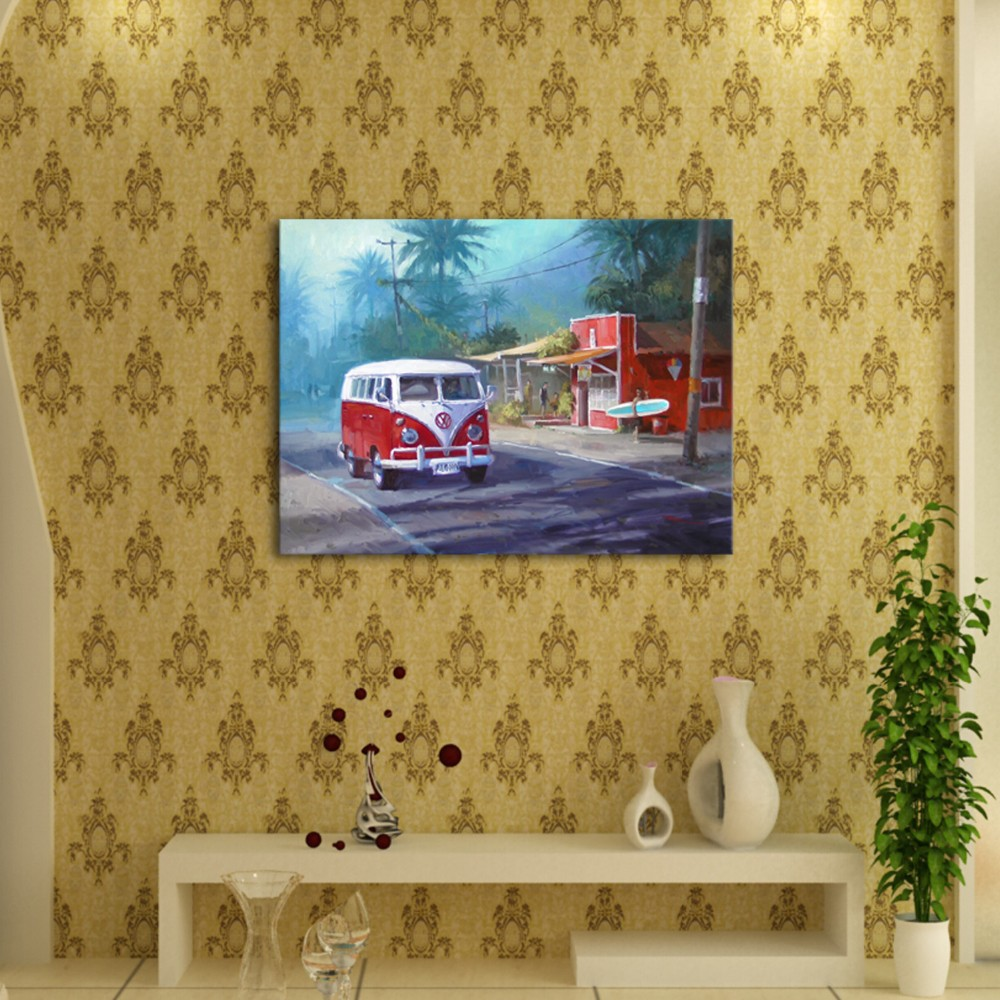 IARTS Hand Painted Frameless Picture Oil Painting Retro Vintage ...