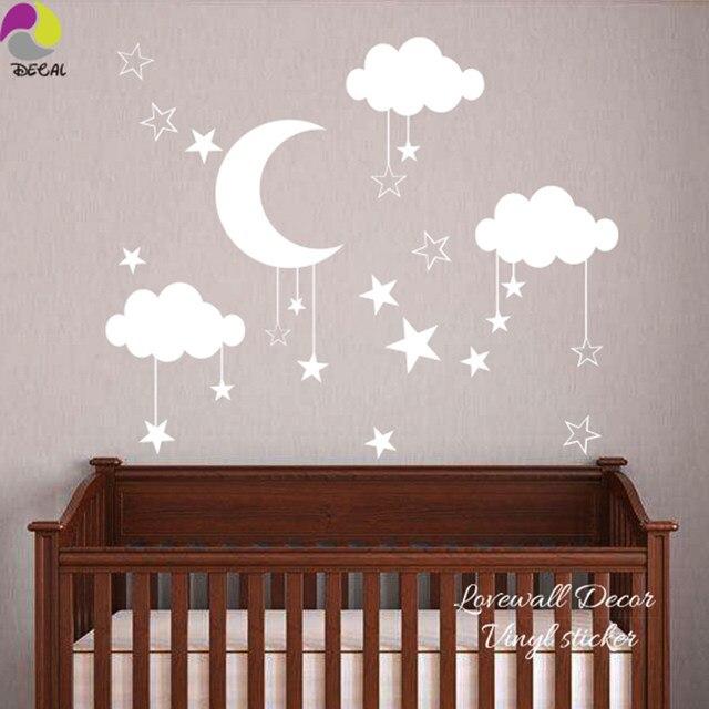 Kinderzimmer baby wände  Online-Shop Baby Kindergarten Mond Stern Wolke Wandaufkleber ...