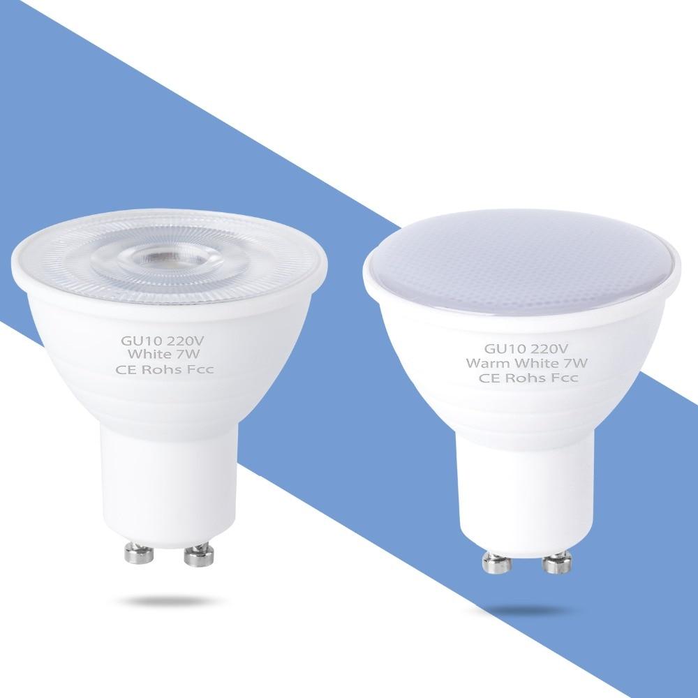 Spotlight Bulb GU10 LED Lamp 220V GU5.3 Spot Light MR16 LED Bulb 5W 7W Lampada LED GU 10 Energy Saving Home Lighting 6 12leds