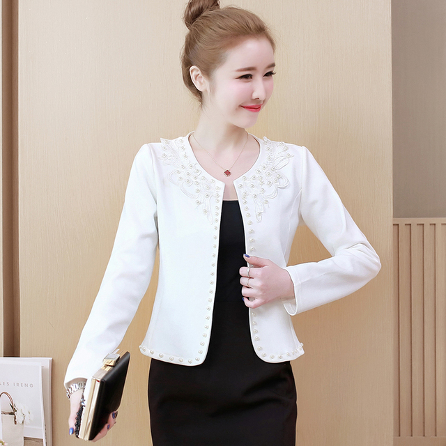 Fashion  3XL 4XL Black Women Jacket 2021 O Collar Coat Women Short Jacket Long Sleeve Womens Jackets And Coats A956 3