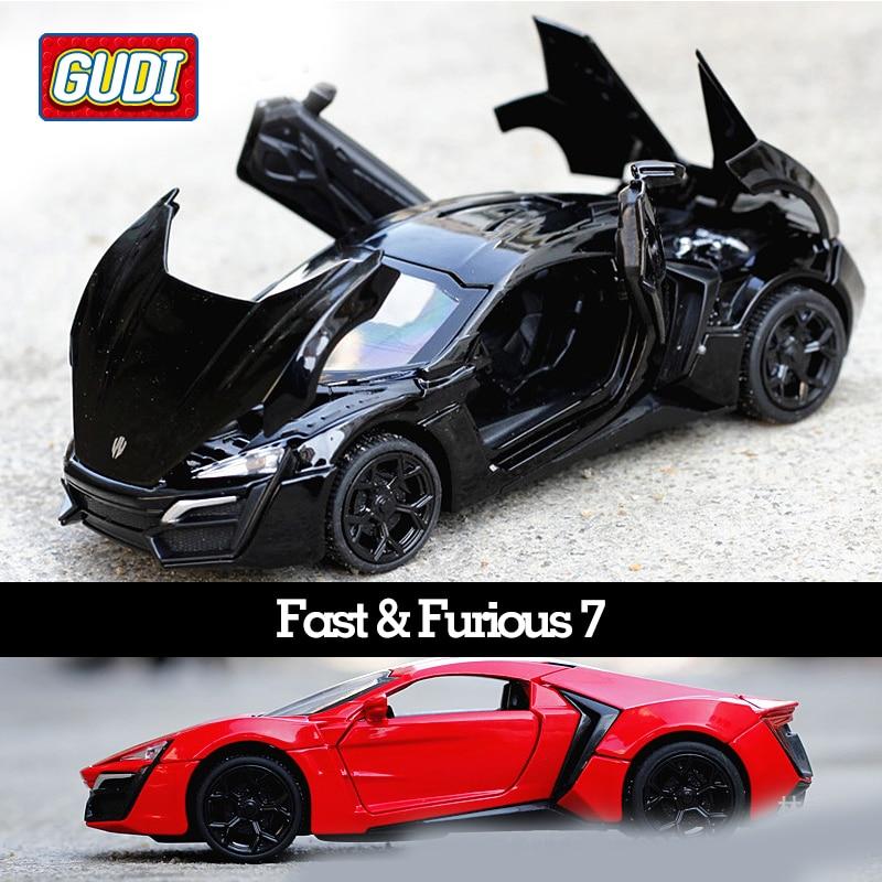 1:32 Kids Toys Fast & Furious 7 Lykan Mini Auto Metal Toy