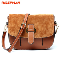 Genuine Leather Purse Women Small Flap Woman Retro Crossbody Bag Vintage Pack For Daily Shopping Business