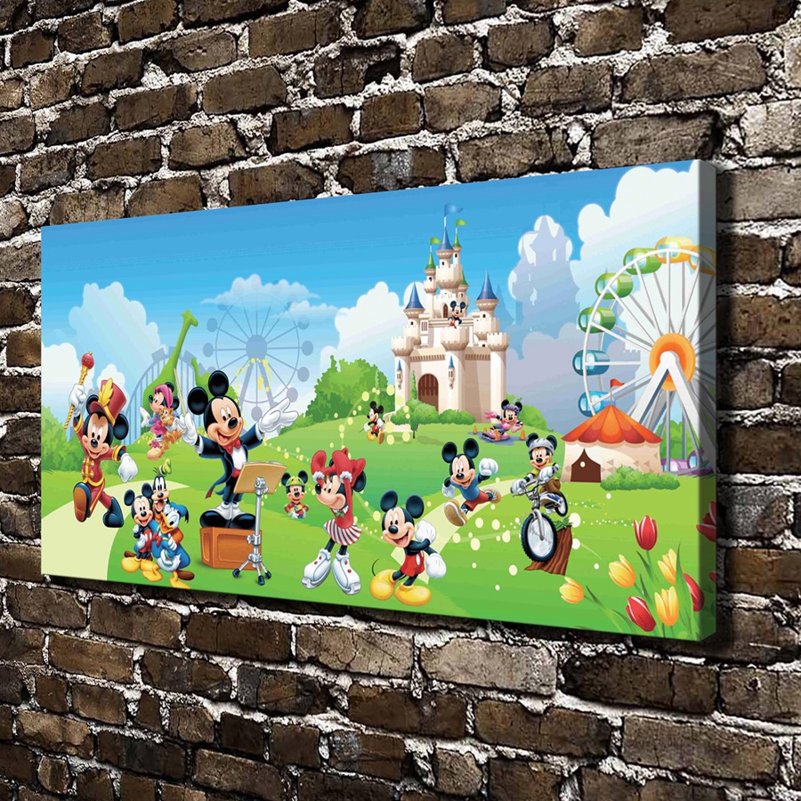 C_X440 Film de dessin animé Mickey Mouse Donald Duck, impression sur toile HD décoration de la maison salon chambre photos murales Art peinture