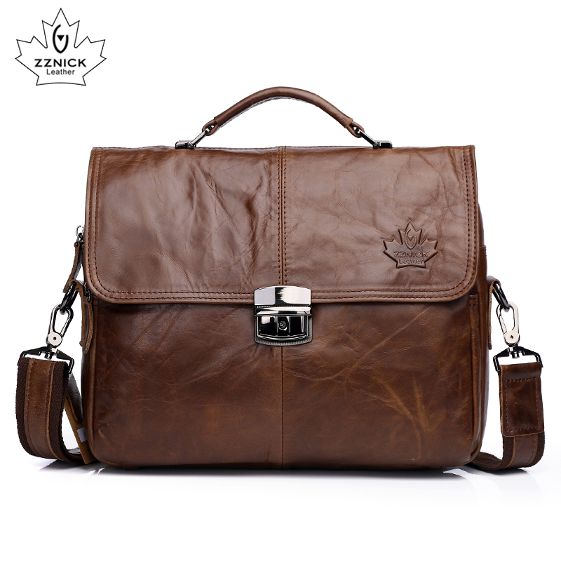 genuine leather messenger bag for men crossbody bag Business Briefcase Laptop Document Case leather bags Fashion