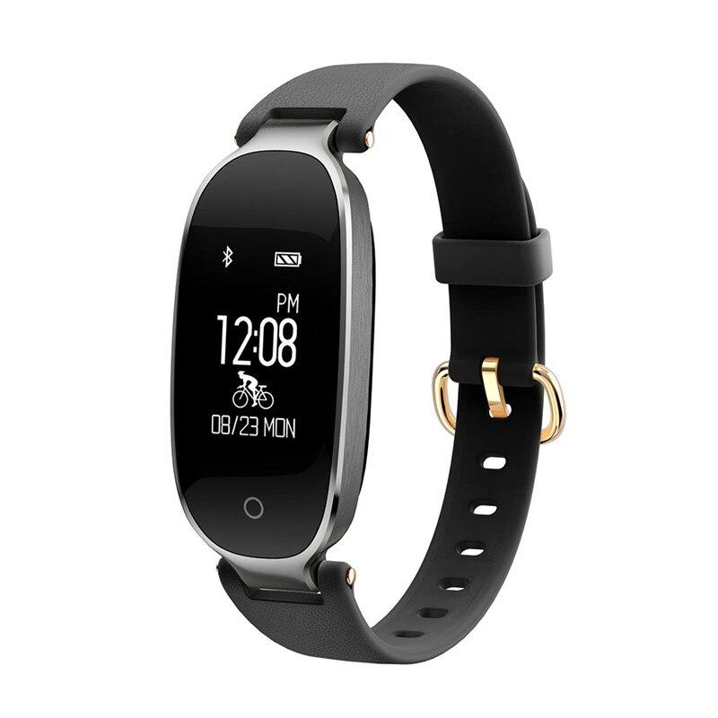все цены на Woman Smart Watch Women's Sport Bracelet SmartWatch Waterproof Heart Rate Monitor Bluetooth Message Reminder Wrist Watch онлайн