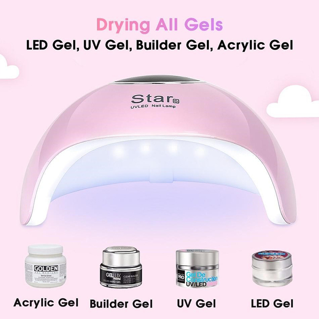 36W UV Led Lamp Nail Dryer For All Types Gel 12 Leds UV Lamp for Nail Machine Curing 30s/60s/99s Timer USB Connector 8