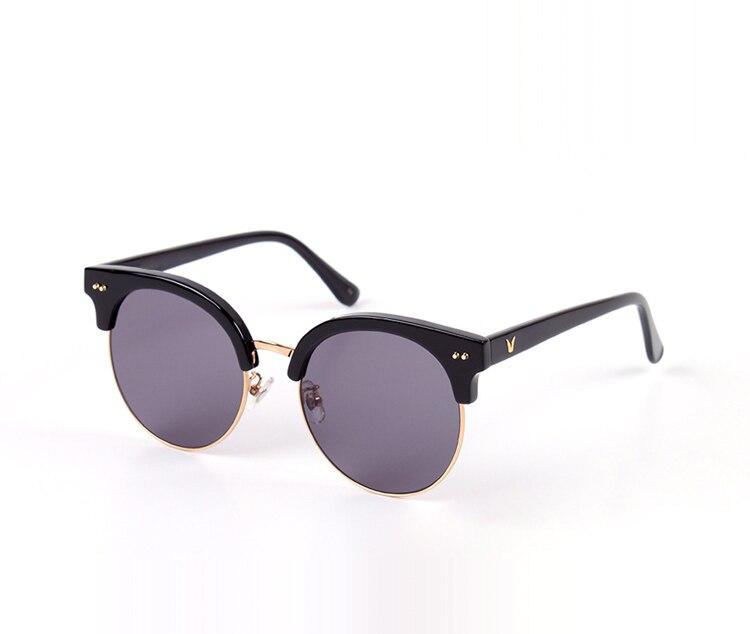 High Quality V logo Sunglasses moon cut Design Classic Retro Half Frame Sunglasses For Women Driving