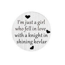 22mm I'm just a girl who fell in love with a knight in shining kevlar Window Plates For Living Floating Lockets(China)