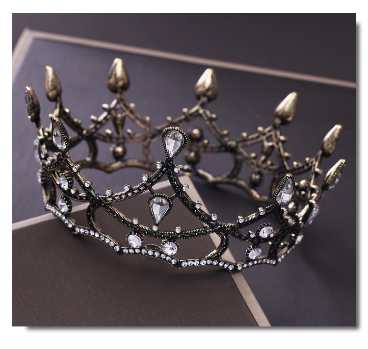Fashion Vintage Baroque Bride Noiva Wedding Hair Accessories Tiaras Crowns Rhinestone Crystal Bridal Headpiece Hair Jewelry in Hair Jewelry from Jewelry Accessories