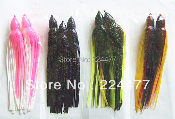8  8.5inch Octopus Lure Fishing Lure Soft Skirt Bait  Sea Trolling Fishing Lure Tuna Lure Fishing Tackle-in Fishing Lures from Sports & Entertainment    1