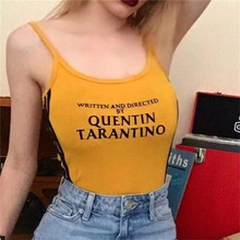 QUENTIN TARANTINO Women Bodysuit Summer Sexy Slim Sleeveless Halter Cami Bodycon