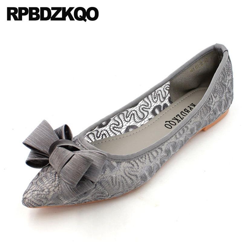 women gray ladies beautiful flats shoes