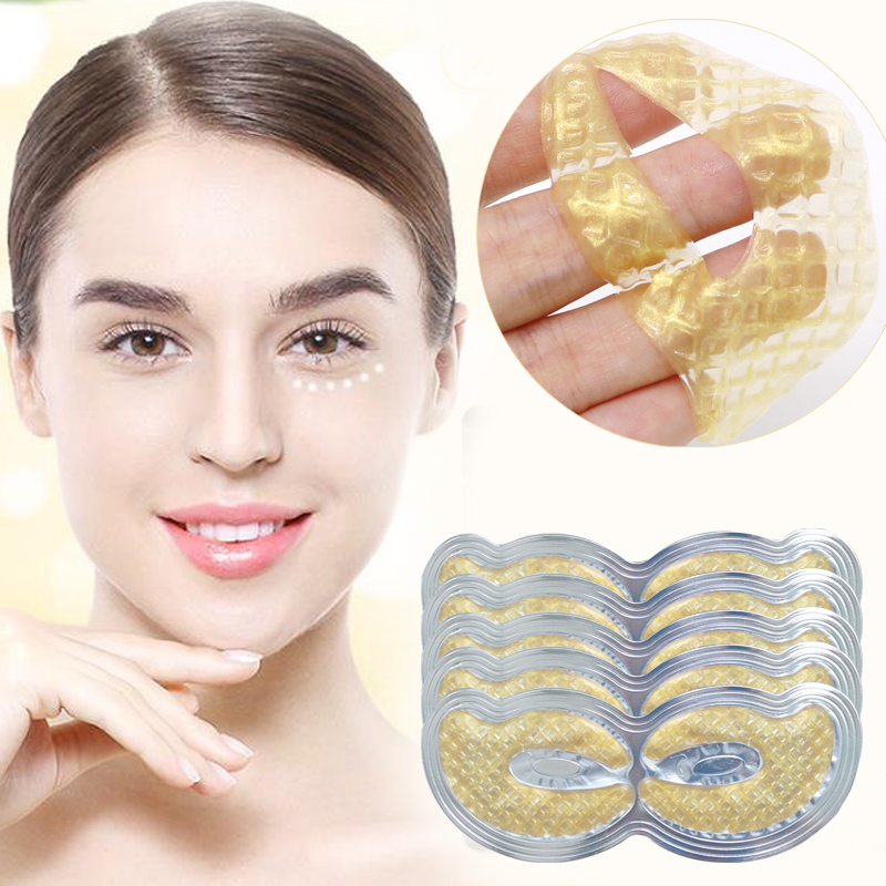 6pcs=3pair Collagen Eye Mask Gel Eye Patches Removal Dark Circle Wrinkles Anti Puffiness Eye Mask Patches For Eyes Gold Masks