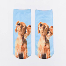 Cute 3D Socks Beauty Short Women Printed Funny Womens Cotton Popsocket Meias Slippers Calcetines Mujer Meia
