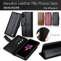 Brand New Pierre Cardin Luxury Genuine Leather Stand Flip Style Card Cover Case For Apple IPhone