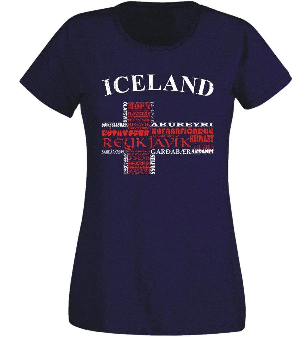 Damen T-Shirt Insel Navy Isl Frauen Fußballer Soccers City Island 2019 Heißer Verkauf Neue Mode Frauen T-shirt Marke Kleidung