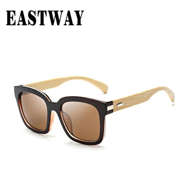 EASTWAY 2017 Piernas De Bambú de Los Hombres Lente Polarizada Gafas de Sol  de Las Mujeres hombres con Cajas de Regalo De Madera gafas de Sol Frescas  para ... cc69c2bd1849