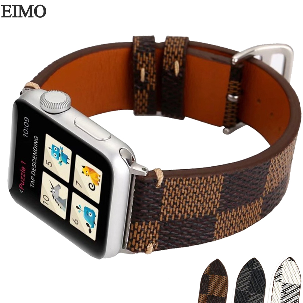 Genuine Leather Strap for 38mm 42mm Apple Watch band iwatch 3/2/1 Sport Wrist Watch Band Metal Buckle Replacement Watchbands genuine leather classic buckle watch straps wrist band for apple watch 42mm red