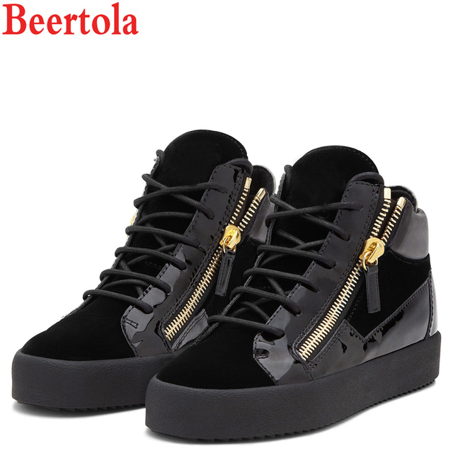 High Flats Us66 Round Toe 03 Italian Men Sneakers Pu Lace Zippers 50Off 38 beertola Homme In Top 45 Shoes 3cm Up Unisex Casuals Style eD2bWIEH9Y