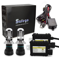 Safego H4 9003 9004 9007 9008 Bixenon HID Kit 35W/55W Hi/Lo Beam Bi Xenon Headlight Bulbs+Relay Harness+ Digital Slim Ballast