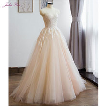 JULIA KUI A-line Wedding Dresses Floor-Length Sweep Train