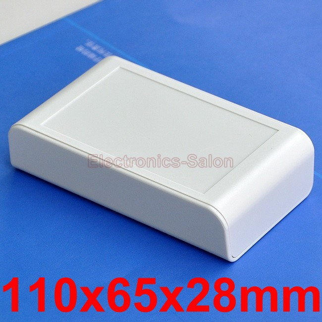 Desktop Instrumentation Project Enclosure Box Case, Full White, 110x65x28mm.