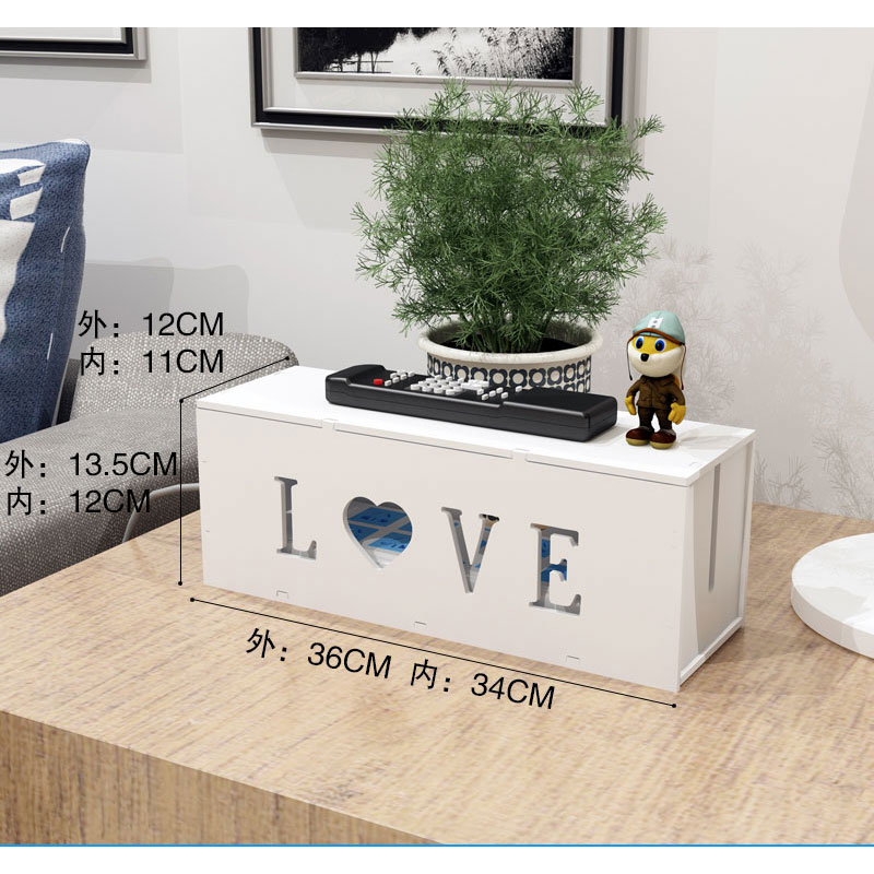 PVC Cable Box Organizer Plastic Wire Storage Box Management Power Line Storage organizer Cable collect Cases Junction Box in Storage Boxes Bins from Home Garden