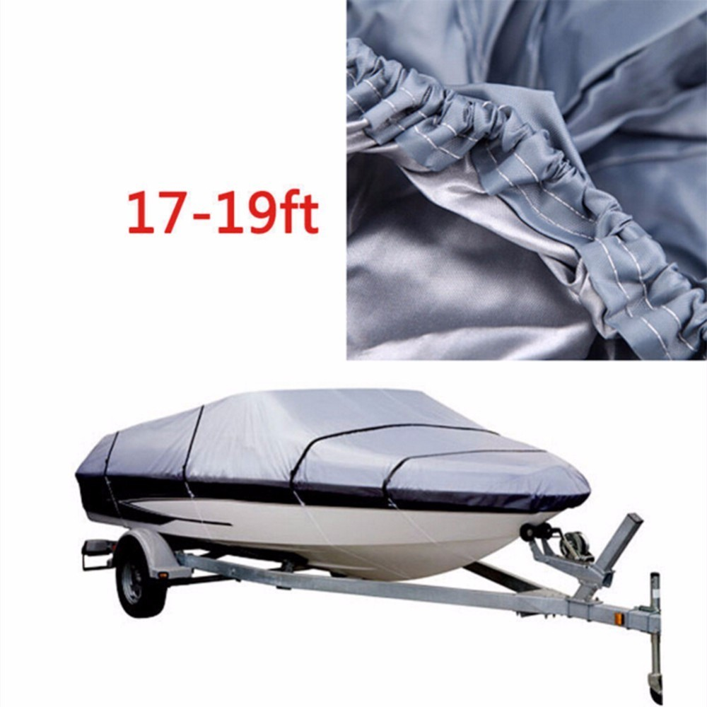 Heavy Duty Trailerable Boat Cover 17-19FT High Quality Waterproof Anti UV Marine Grade Boat Cover Classic Accessories
