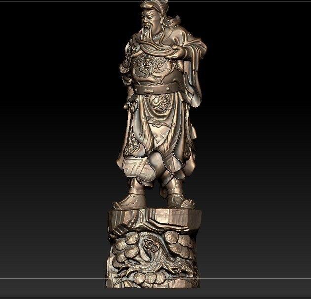 3D модель для ЧПУ 3D резная фигура скульптура машина в формате STL файл китайская историческая фигура Guan Yu изображение
