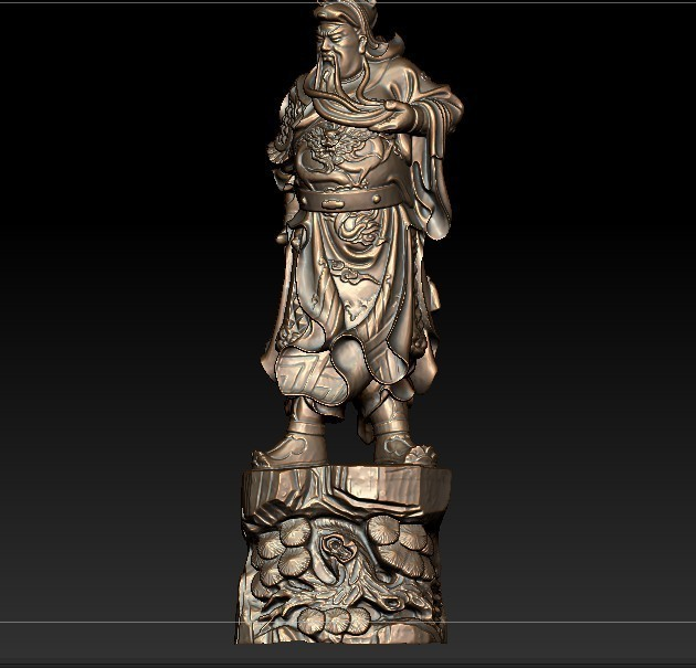 3D model for cnc 3D carved figure sculpture machine in STL file format Chinese historical figure Guan Yu's image|Wood Routers| |  - title=