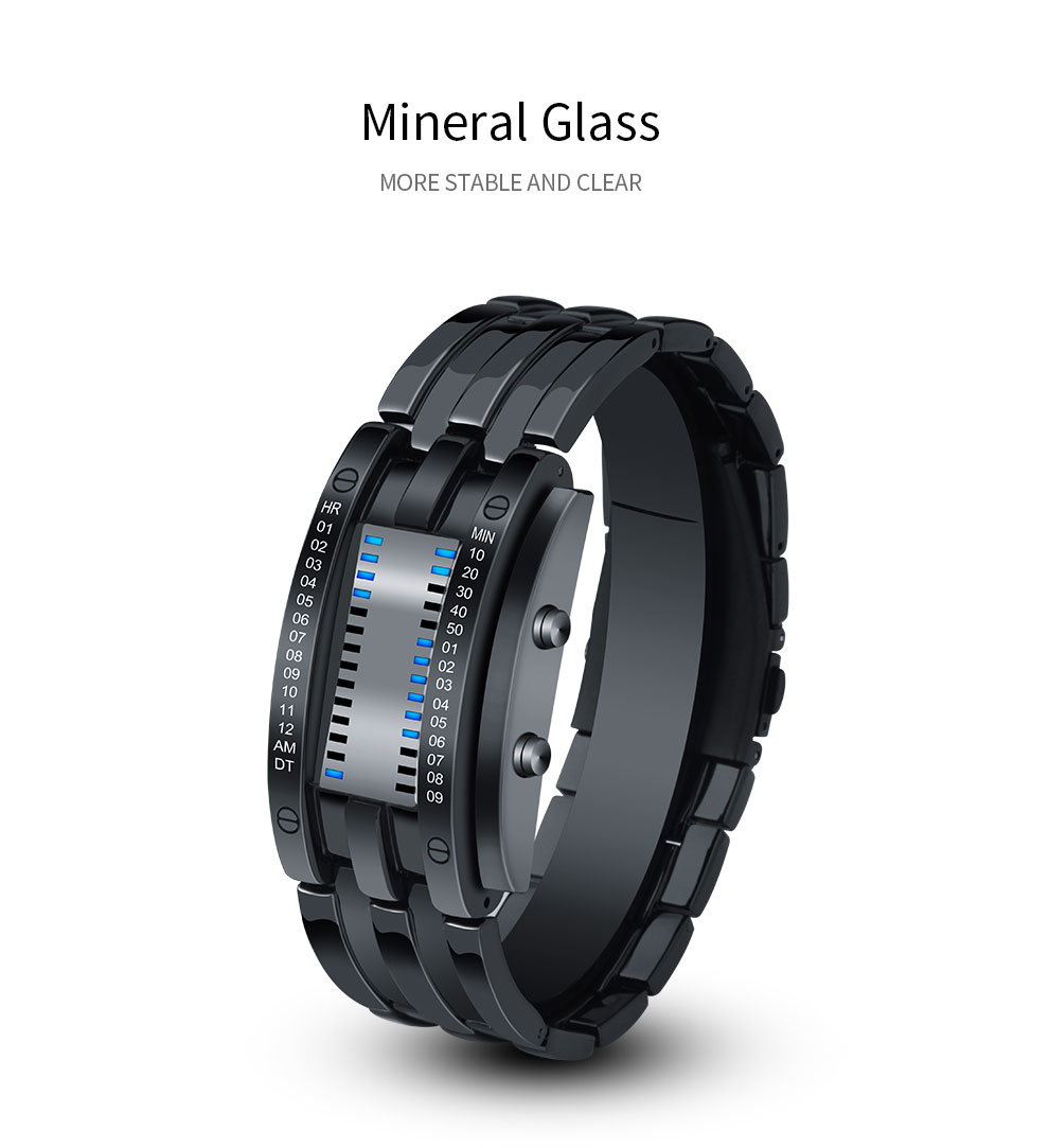 geekoplanet.com - Digital LED Display 50M Waterproof Wristwatch