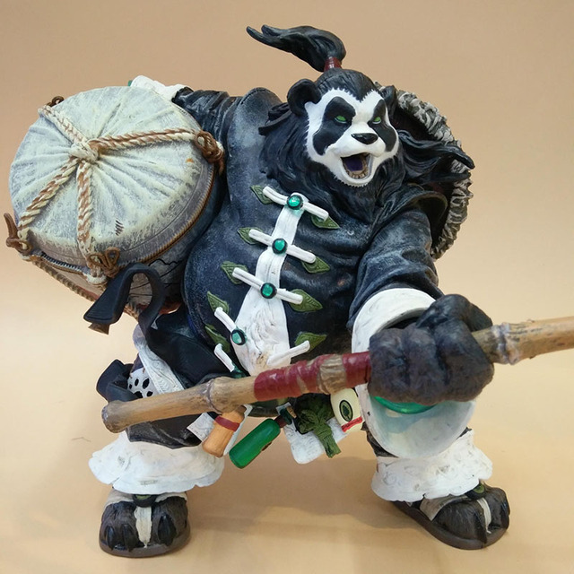 20CM Chen Stormstout Action Figure 1/8 Anime Game World of War WOW The Pandaren anime figurines model toys for children Gift 3