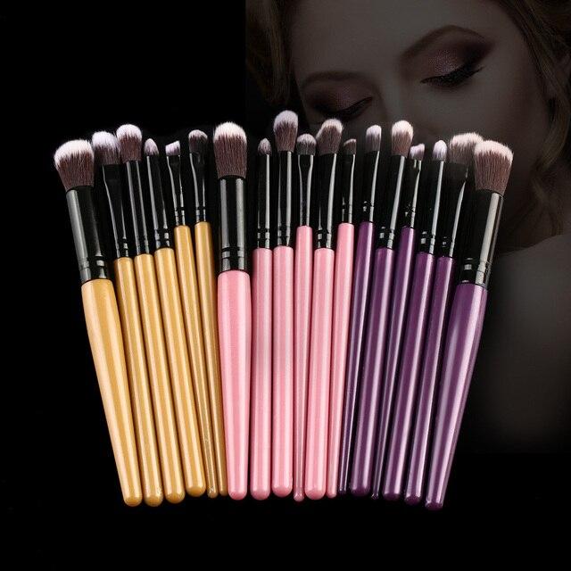 f99a600ad7 6 unid/set Vogue maquillaje cosmético sombra de ojos polvo base cara  colorete brochas de