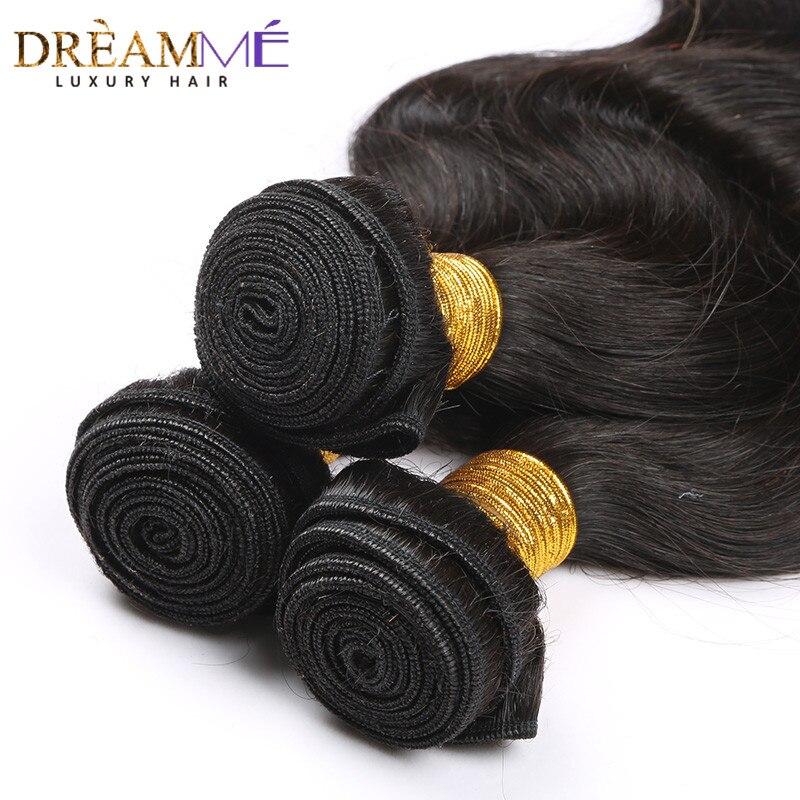 Image 4 - Бразильские волнистые человеческие волосы для наращивания 100% remy волосы переплетения пучки натуральный черный цвет Dreaming Queen Hair продукты-in 3/4 пучка from Пряди и парики для волос on AliExpress