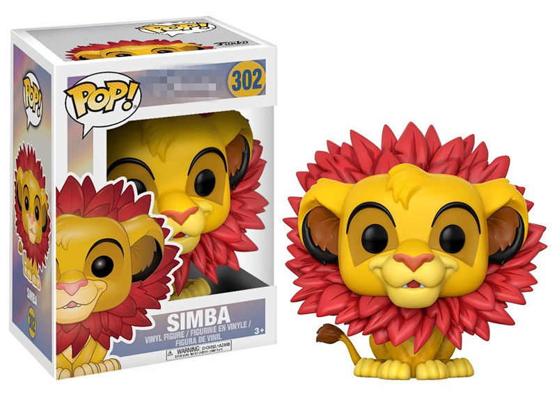 2017 Funko pop official Cartoon The Lion King - Simba (Leaf Mane) Vinyl Action Figure Collectible Model Toy with Original Box funko pop official spider man homecoming spiderman new suit vinyl action figure collectible model toy with original box