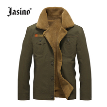 Jasino brand casual men retro denim jackets coat army military warm jeans jackets parkas wind breaker men camouflage fur jacket