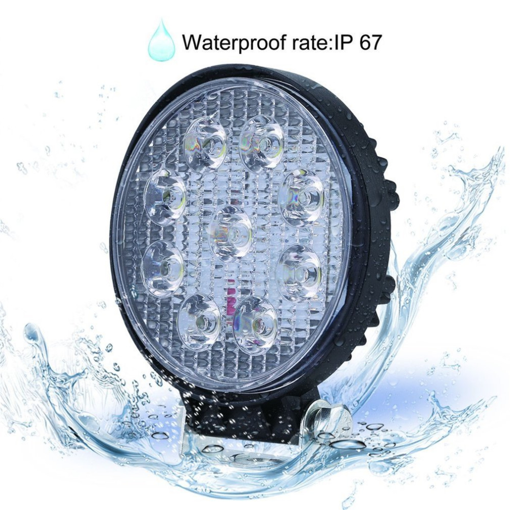 27W OutdoorFlood Beam Led Bulbs Floodlight Headlight Work Lamp Portable Round Lamp For Boat Tractor Truck Off-Road Cars