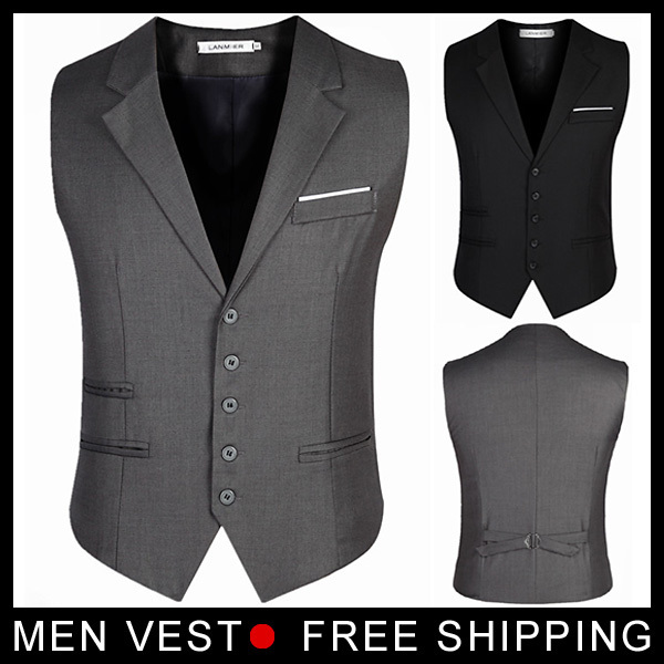 Marca de moda de Algodão Com Decote Em V Formal Dos Homens Vest Tops/Desgual Primavera Coletes À Prova de Verão Para Homens/Casual Plus Size Casacos homens de Roupas