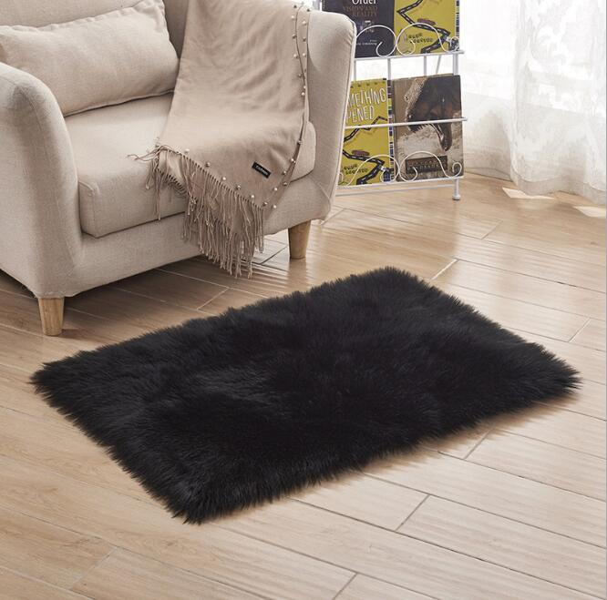 More Size Artificial Sheepskin Rug Chair Cover Bedroom Mat