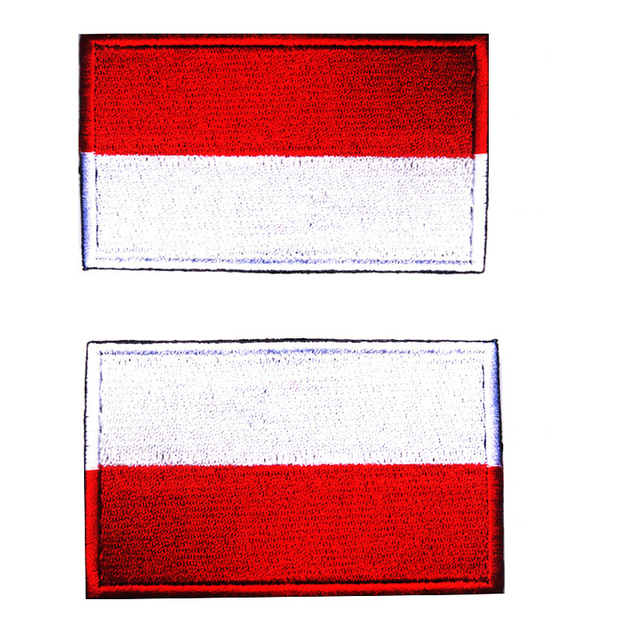 embroidery badge indonesian polish national flag of poland