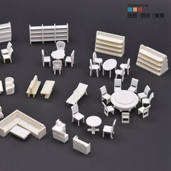 1  50 DIY Ландшафтная модель мебели секция материала мебель для квартиры модель стол стул набор витрина
