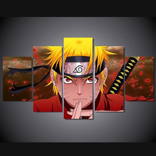 HD Print Painting Wall Art Canvas Home Decoration Living Room NARUTO Anime Decorative 5 Pieces